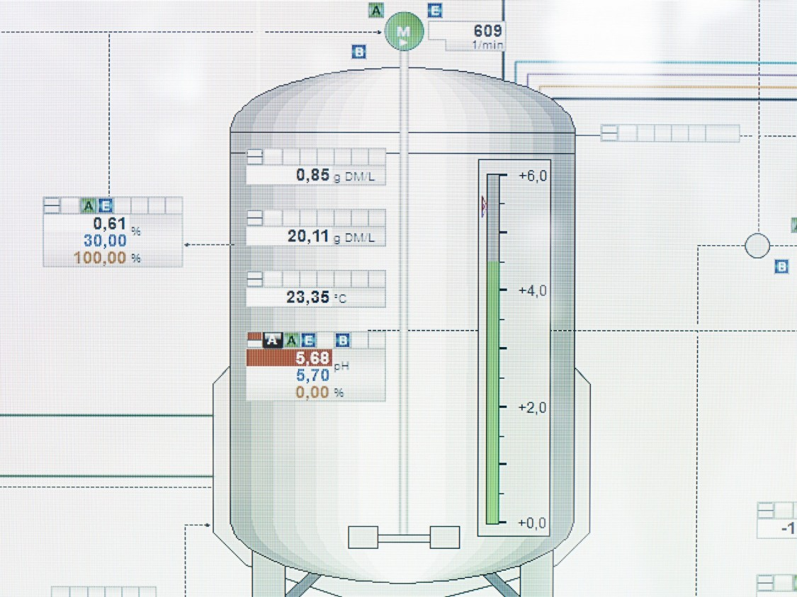 Data is used to precisely map the fermentation process in a digital twin.