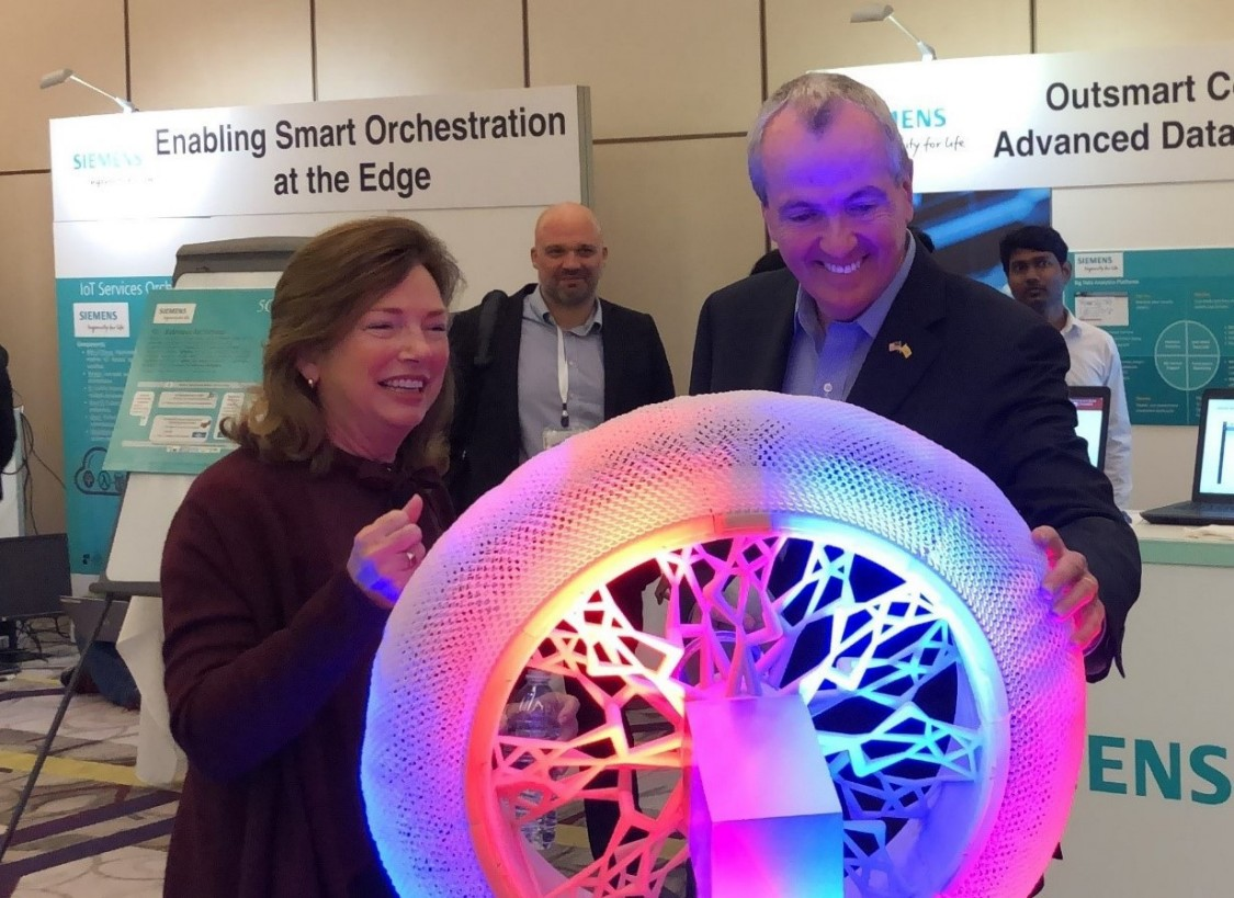 Siemens USA CEO Barbara Humpton and New Jersey Governor Phil Murphy