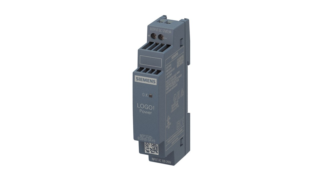 Product image LOGO!Power, 1-phase, 12 V/0.9 A