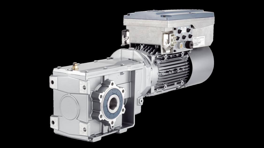 Produktbild SINAMICS G110M auf einem SIMOGEAR Getriebemotor