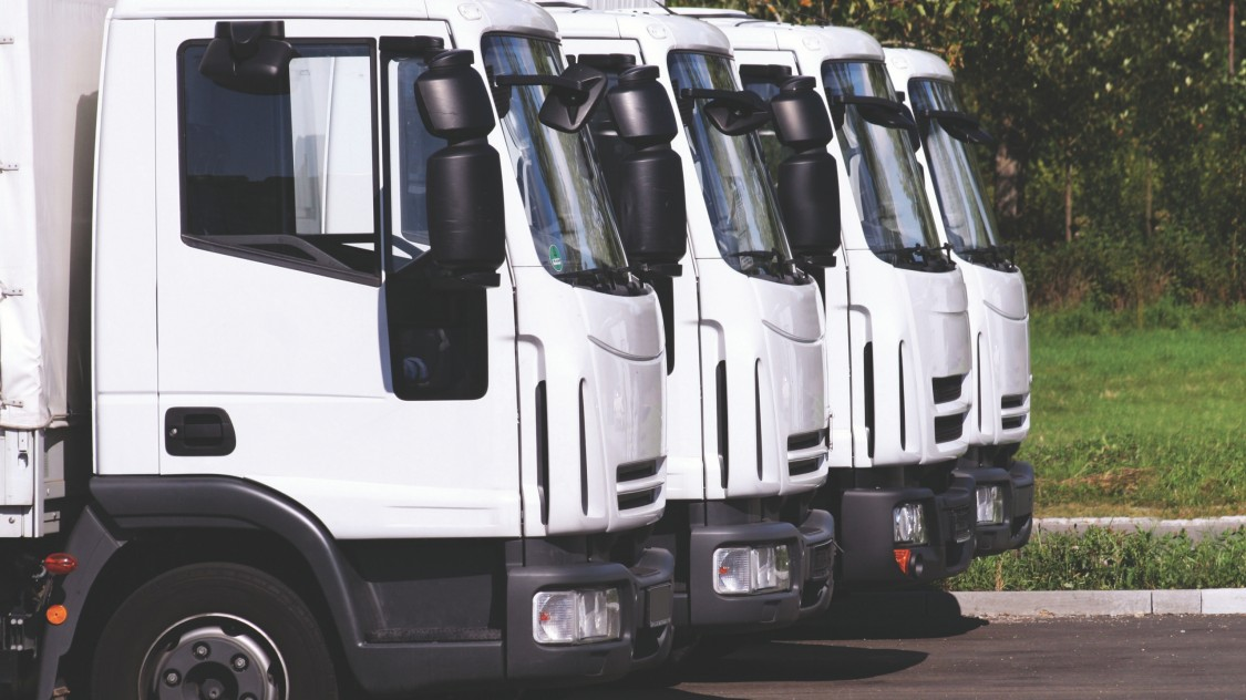 Lorries lined up