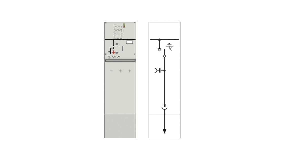 8DJH 36 medium-voltage switchgear ring-main section R