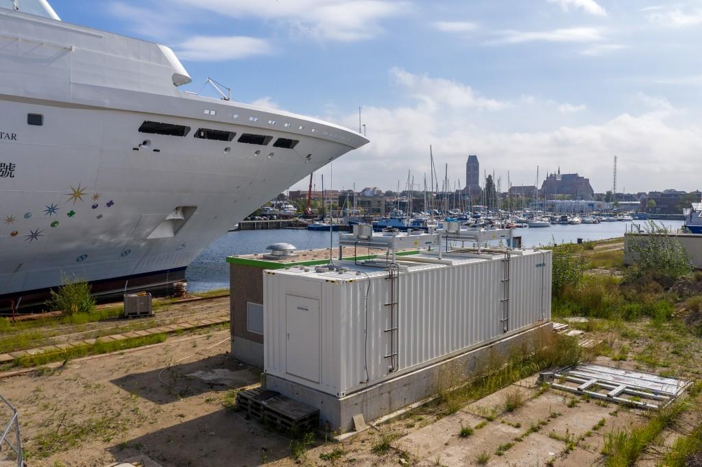 Pressefeature Landstrom   Wismar MV Werften