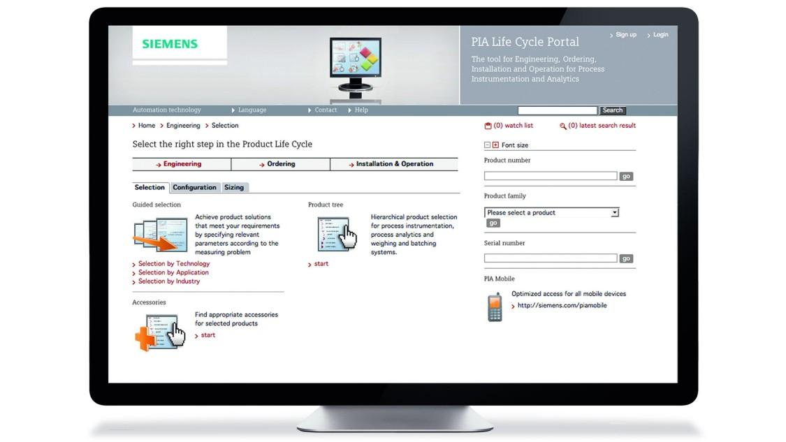 USA | PIA life cycle portal for product selection