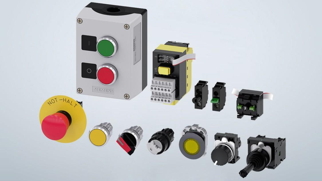 3SU1 Sirius ACT botões de pressão e indicadores