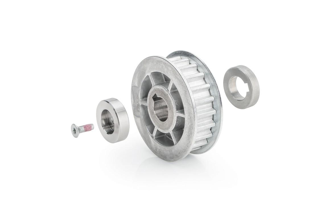 SIDOOR MDG-PULLEY 14-S8M-56 Riemenrad für DC-Getriebemotor MDG4, MDG5 und Zahnriemen S8M, Wirkdurchmesser 56mm