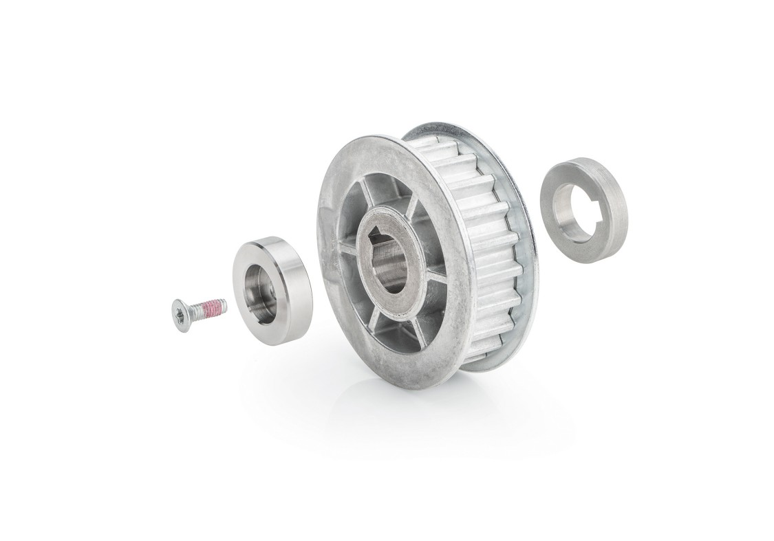 SIDOOR MDG-PULLEY 14-S8M-56 Pulley for DC geared motor MDG4, MDG5 and toothed belt S8M, effective diameter 56mm
