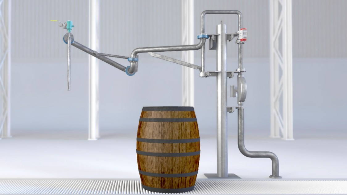 Cyber-physical filling solution for whisky distilleries