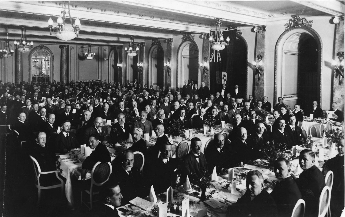 Delegates at the London World Power Conference, 1924
