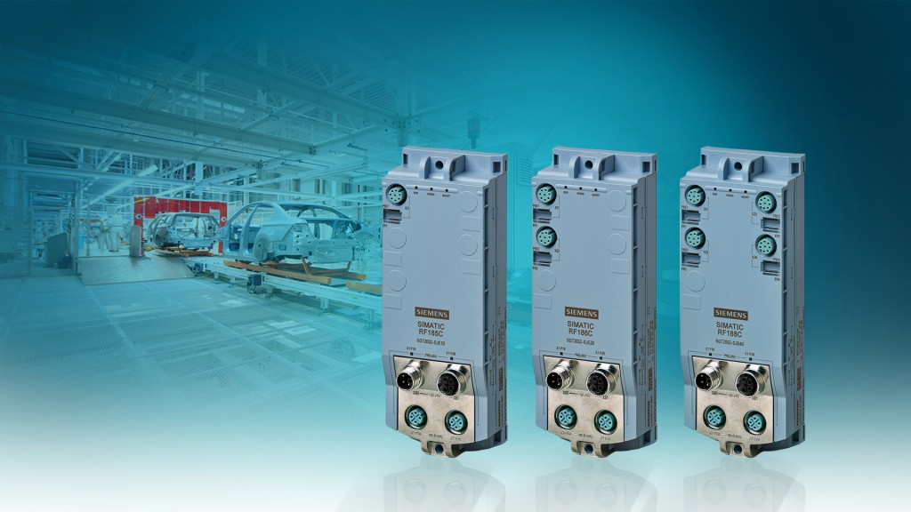The picture shows the first devices of the new Simatic Ident communication modules RF185C, RF186C und RF188C