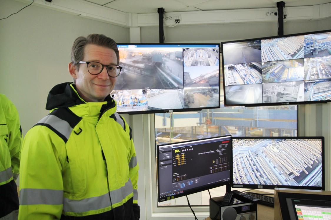 Johan Fredriksson, chef produktionsteknik och projektledare för såglinjeinvesteringen på Sävar Såg.