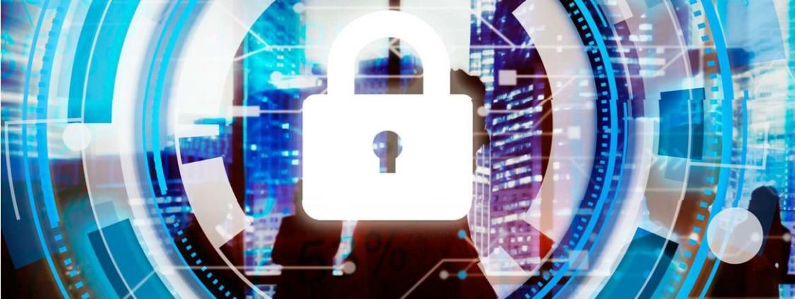 Padlock representing cyber security
