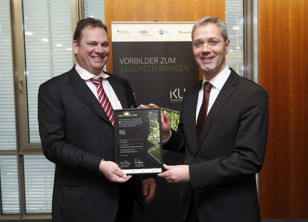 Siemens awarded two climate innovation prizes by German Environment Ministry