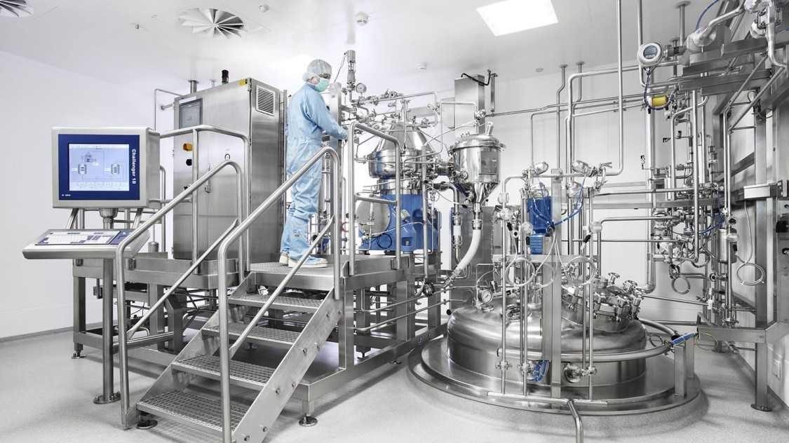 Mass production of vaccines using MES