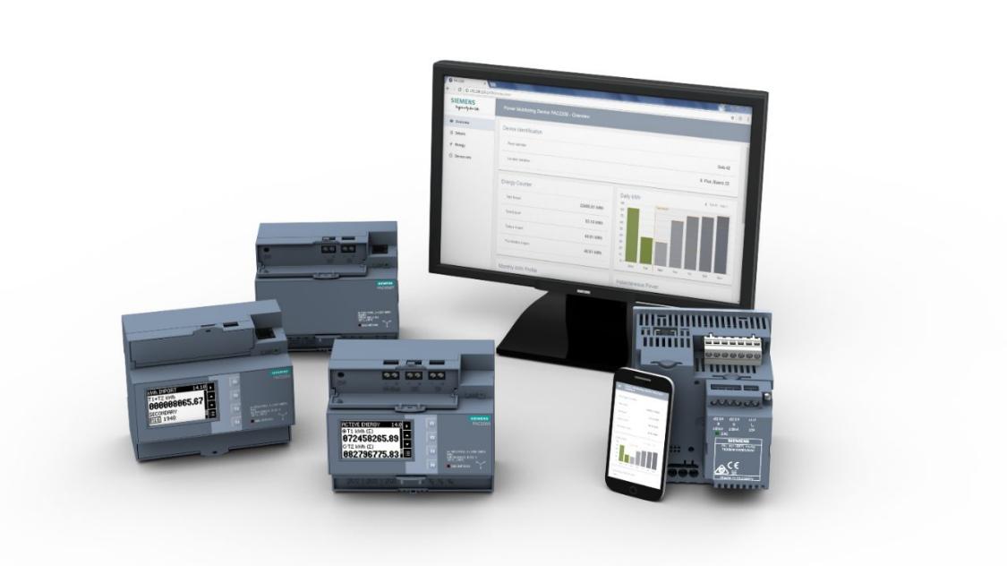 компактные 7KM PAC3200T и 7KM PAC2200 на DIN-рейку измерительные устройства с расширительными модулями I(N), I(Diff), analog.