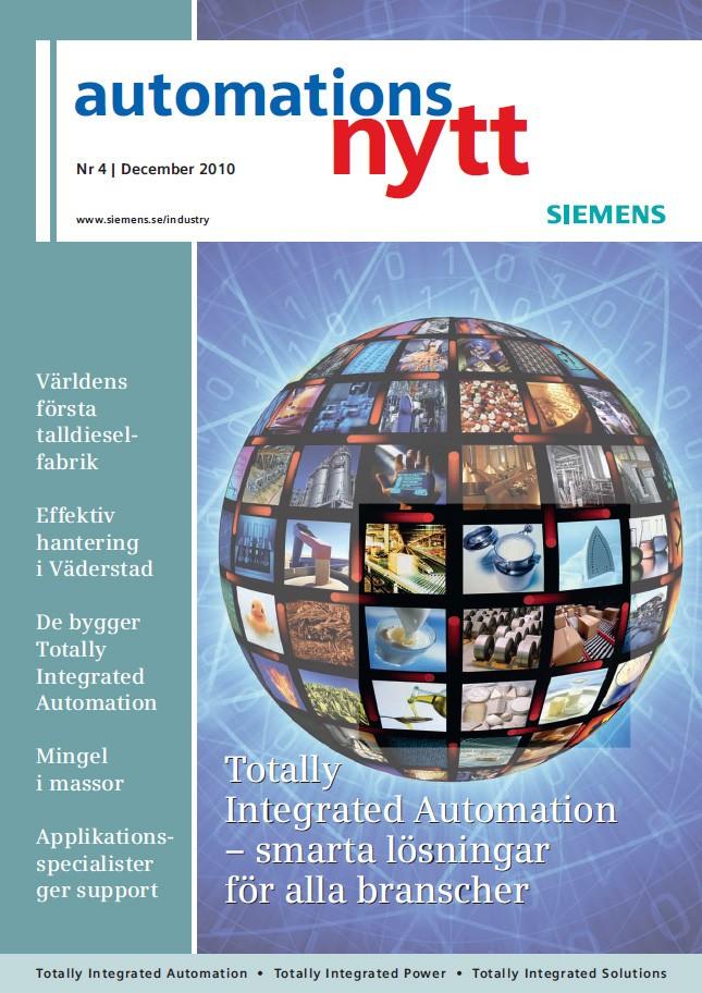 Automationsnytt Nr 4 | December 2010