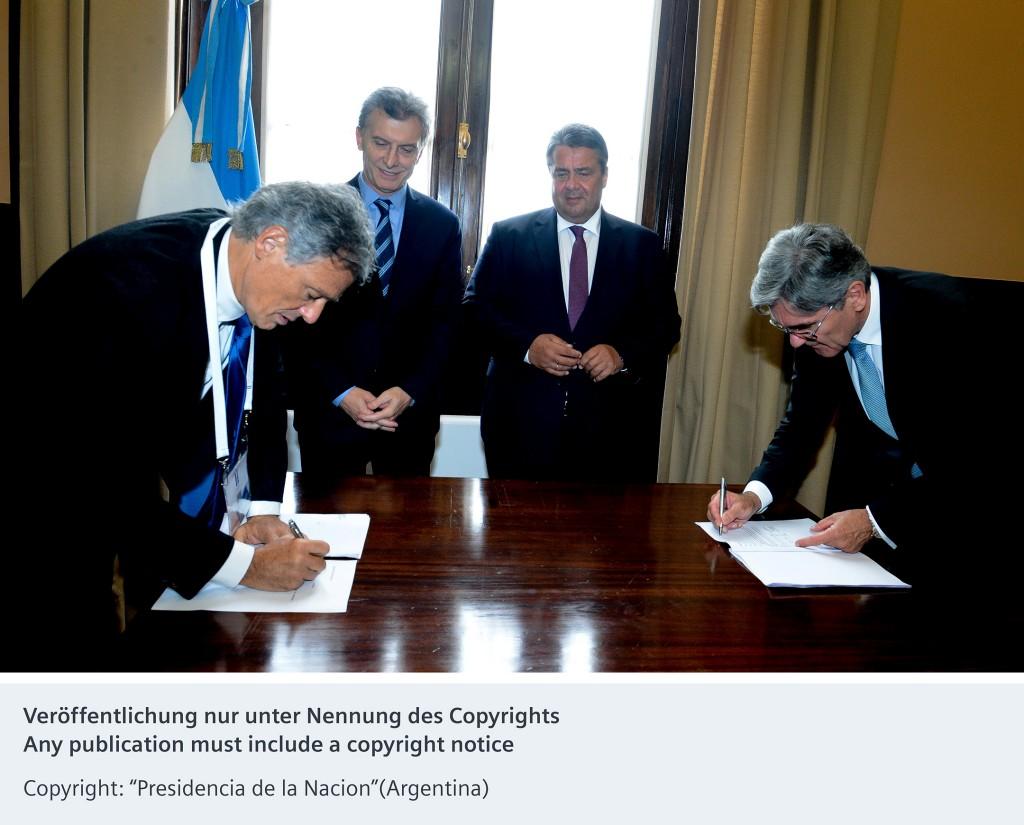 Siemens und die argentinische Regierung vereinbaren intensivere Zusammenarbeit