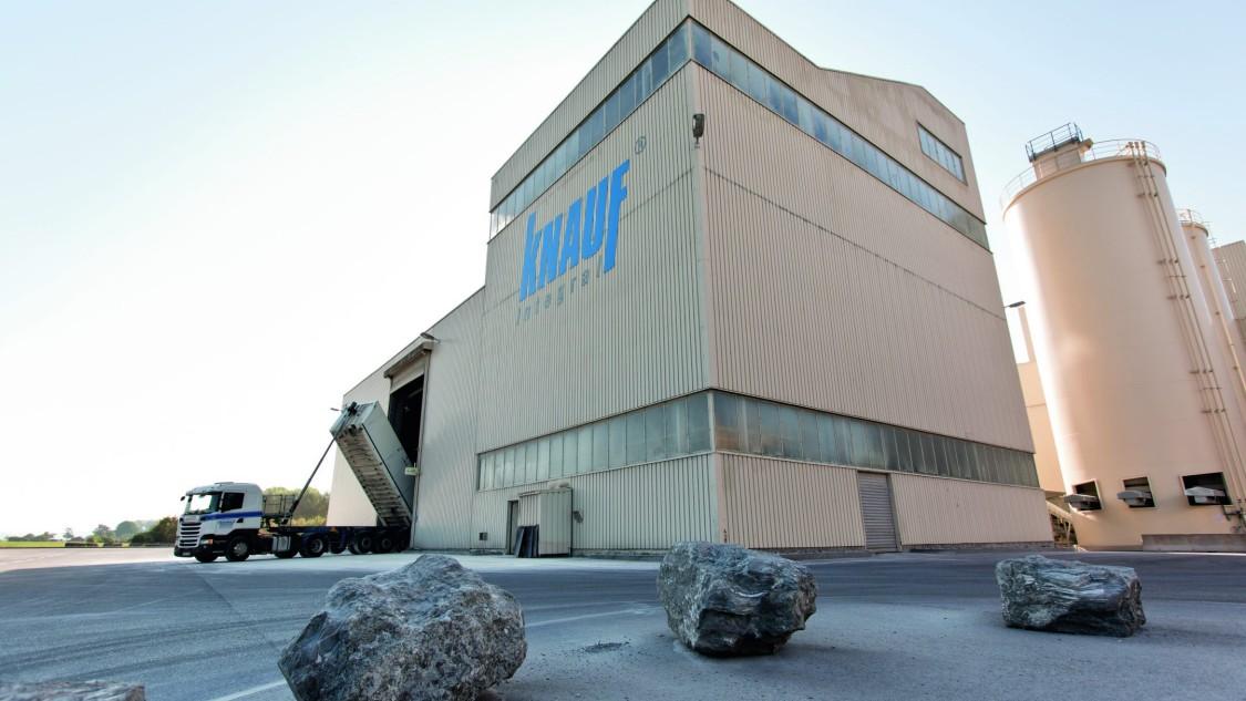 Werksgebäude der Firma Knauf Integral KG in Satteldorf