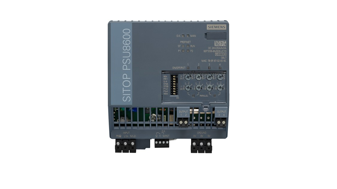 PSU8600, 24 V/4x5 A, 6EP3336-8MB00-2CY0