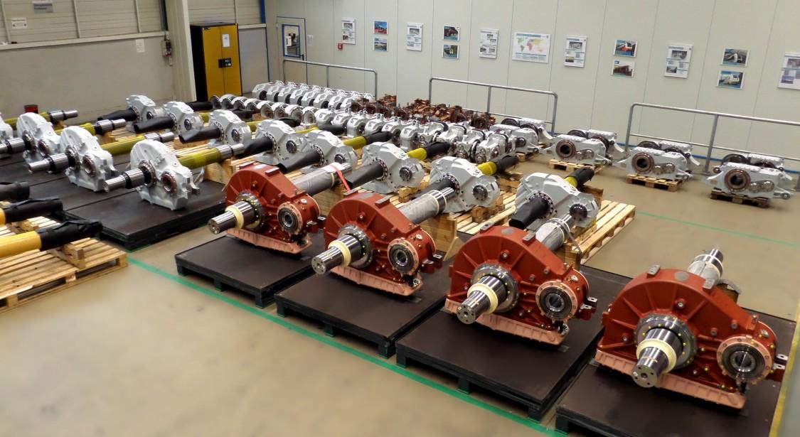 Siemens Getriebevarianten für Schienenfahrzeuge.