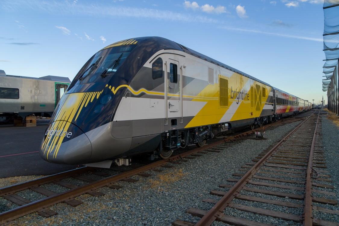 Brightline Train at Siemens Mobility Plant