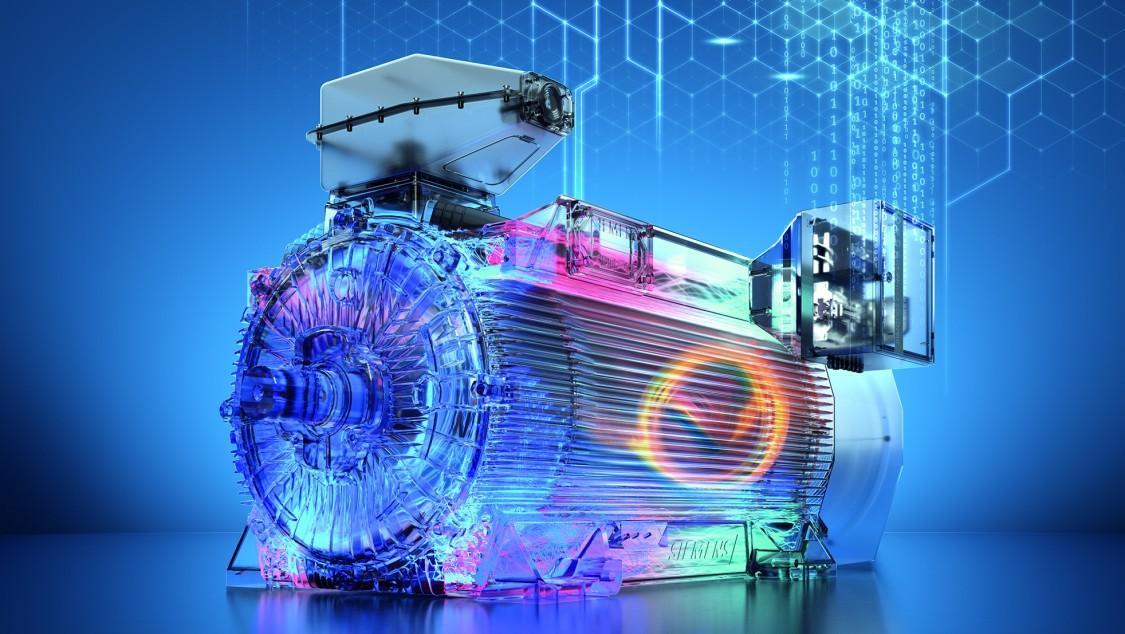 Key visual SIMOTICS HV C high-voltage motor with SIMOTICS CONNECT 600