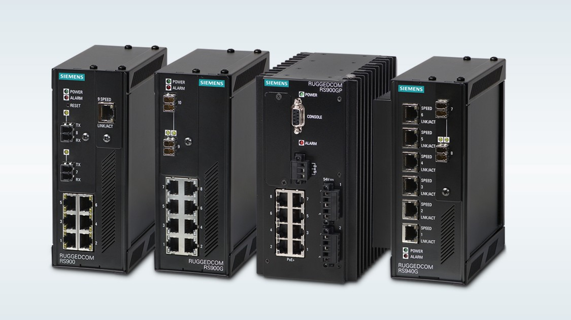 Image of the RUGGEDCOM RS900 product family