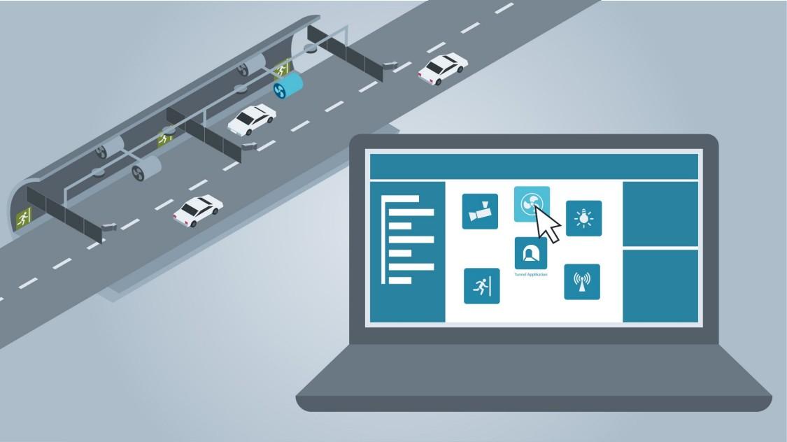 Effizienteres Engineering durch Standardisierung: In einer Bibliothek sind im TIA Portal zahlreiche wiederkehrende Applikationen der Tunnelautomatisierung gespeichert, die für ein neues Projekt lediglich an die individuelle Situation angepasst werden müssen (Copyright: Siemens AG)