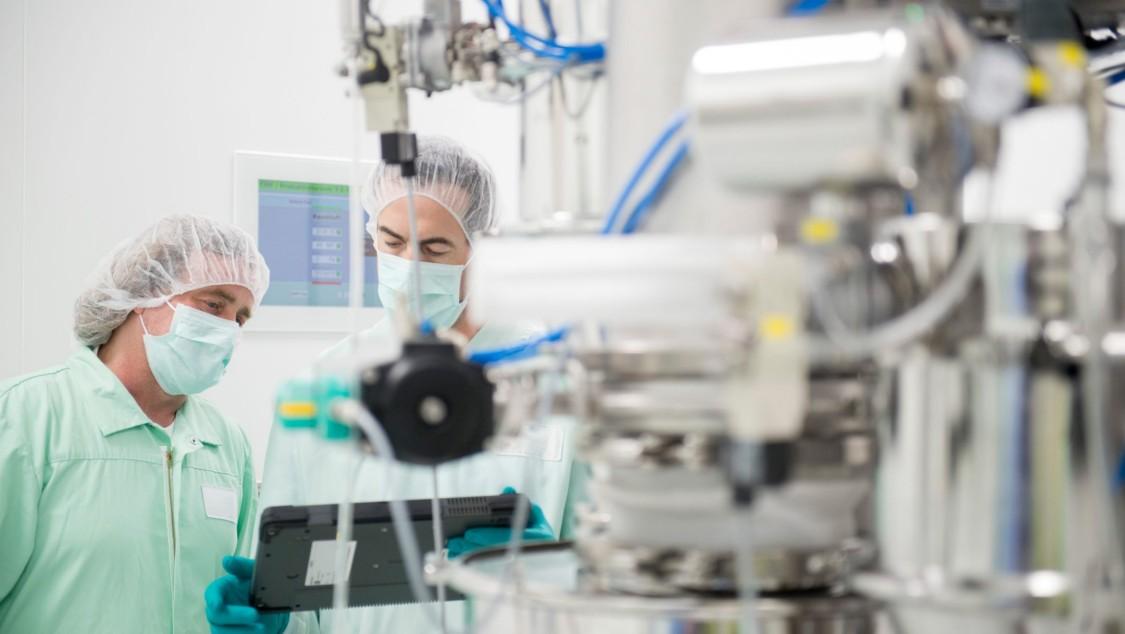 Angestellte im Labor