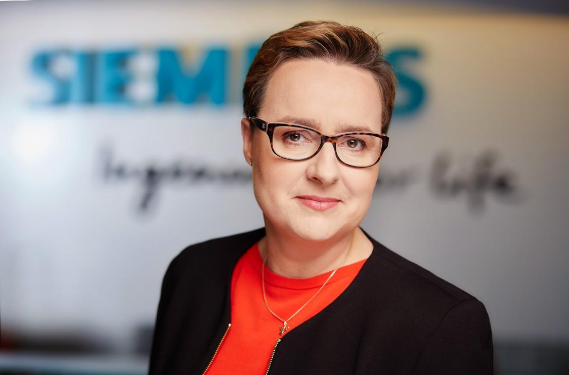 Na zdjęciu przedstawiona jest obecna CEO Siemensa w Polsce - Dominika Bettman