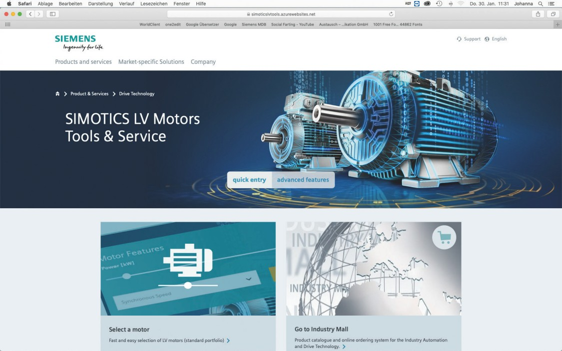 SIMOTICS LV Motors Tools & Service