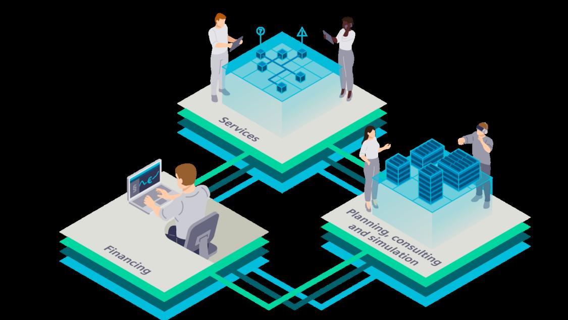 Siemens unterstützt Investoren, Eigentümer und Betreiber eines Smart Campus mit kompetenten Dienstleistungen für den gesamten Lebenszyklus von der Planung über den Betrieb und die Wartung bis hin zur Finanzierung.