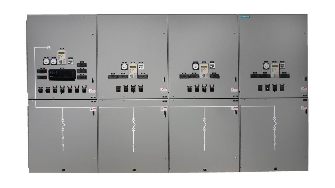 Siemens GM38 medium-voltage non-arc-resistant switchgear
