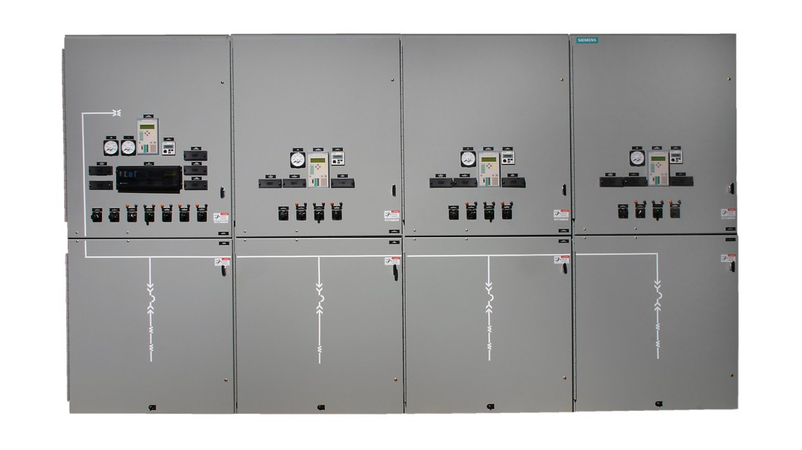 Siemens GM38 medium-voltage non-arc-resistant switchgear