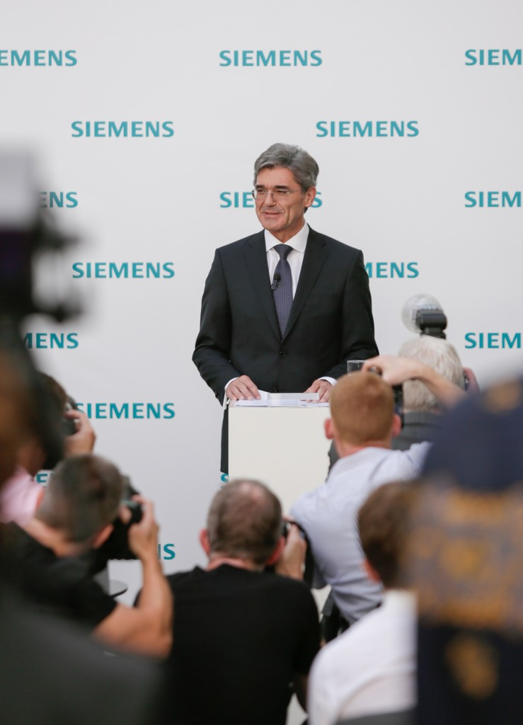 Press conference of Siemens AG in Munich on July 31, 2013