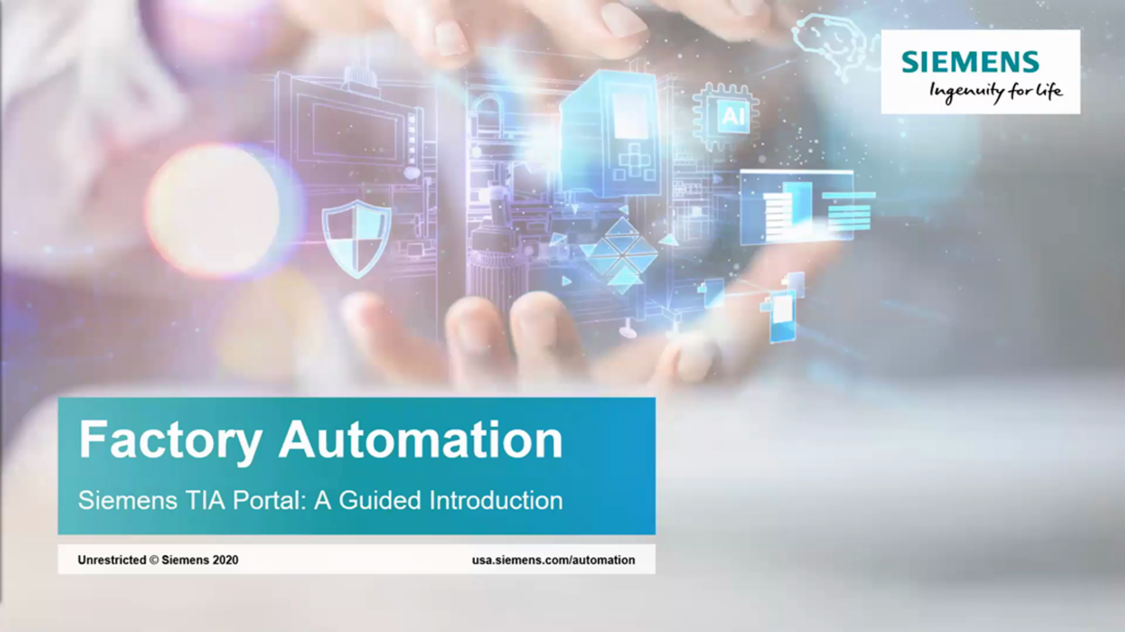 Siemens TIA Portal: A Guided Introduction Webinar