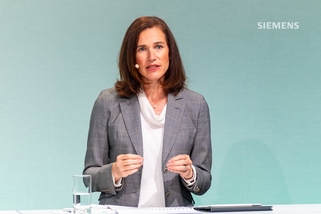 Siemens AG's Capital Market Day on June 24, 2021: Judith Wiese, Chief Human Resources Officer and Chief Sustainability Officer, during the live Q&A session for analysts at the event held at Siemens headquarters in Munich.