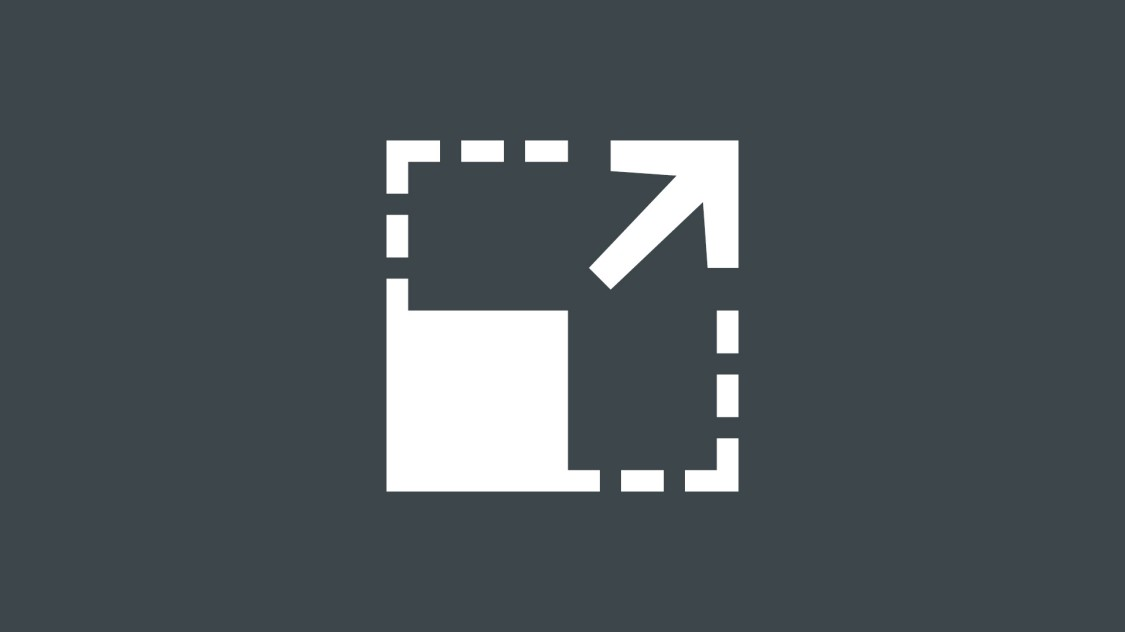 Icon for the scalability of SINEC NMS: filled square, which is extended by a transparent square, an arrow shows the enlargement.