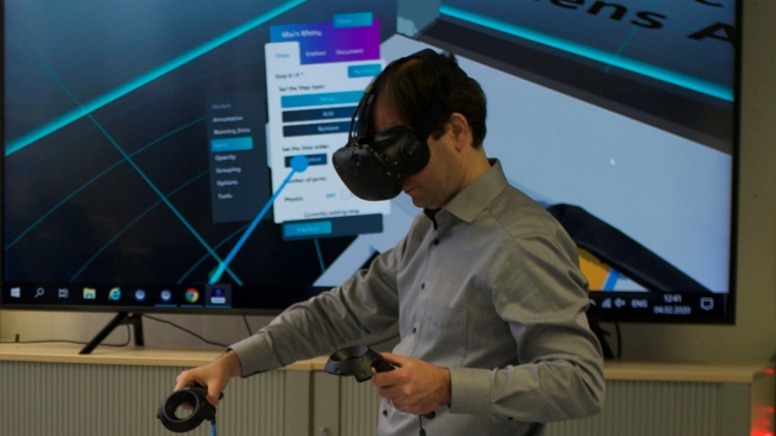 Training in the VR environment