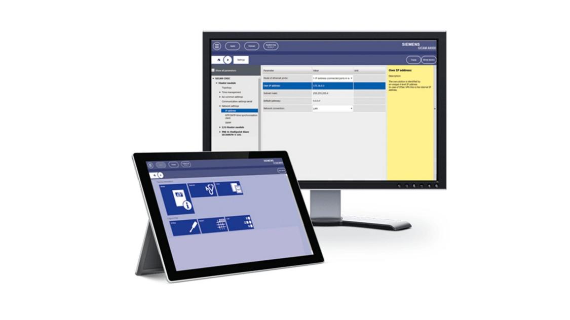 Online-Engineering von SICAM A8000 - SICAM WEB