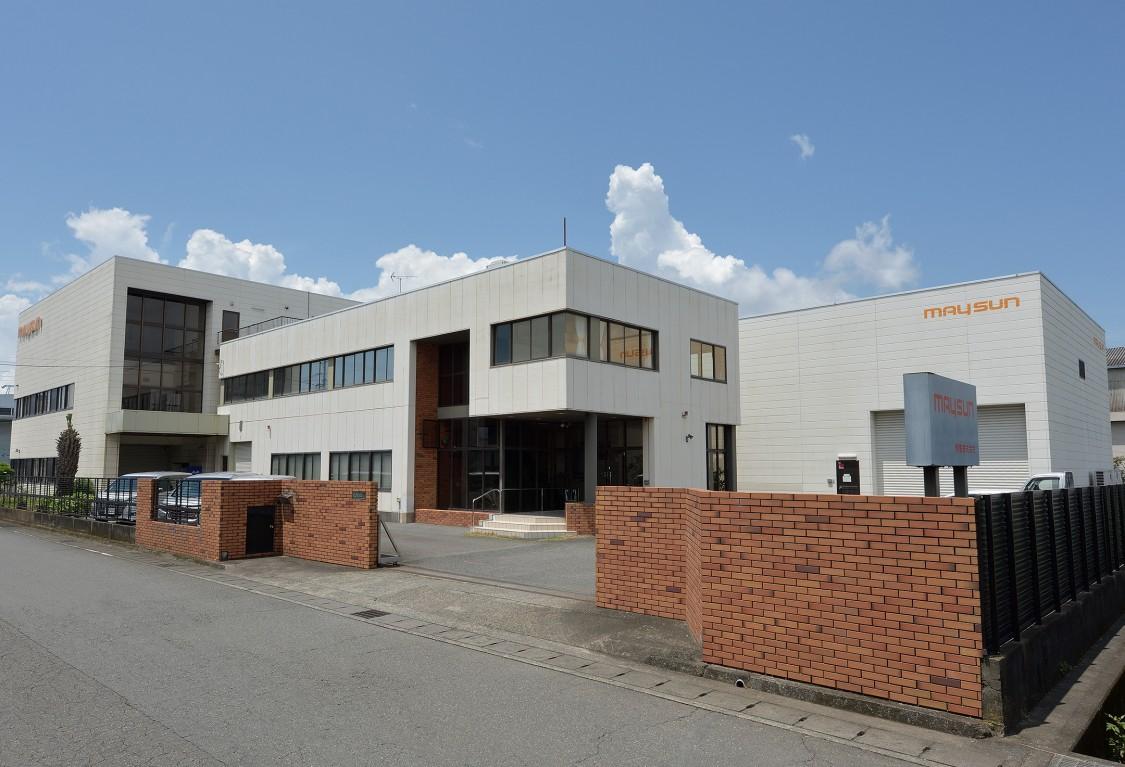 Die Firmenzentrale der MAYSUN Corporation in Fuji City in der japanischen Präfektur Shizuoka.