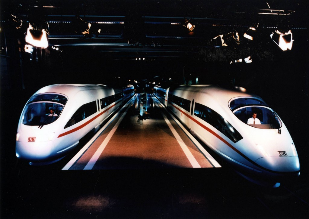 ICE 3 and ICE T, 1996, Presentation of the mockup in Munich-Pasing.