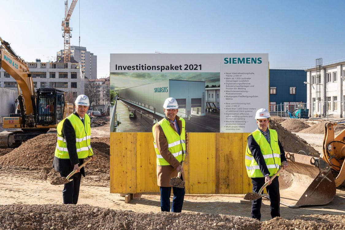 Spatenstich im Siemens Werk Wien Simmering