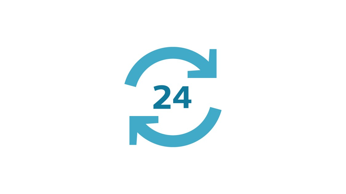 Grafik hohe Prozessverfügbarkeit 24/7