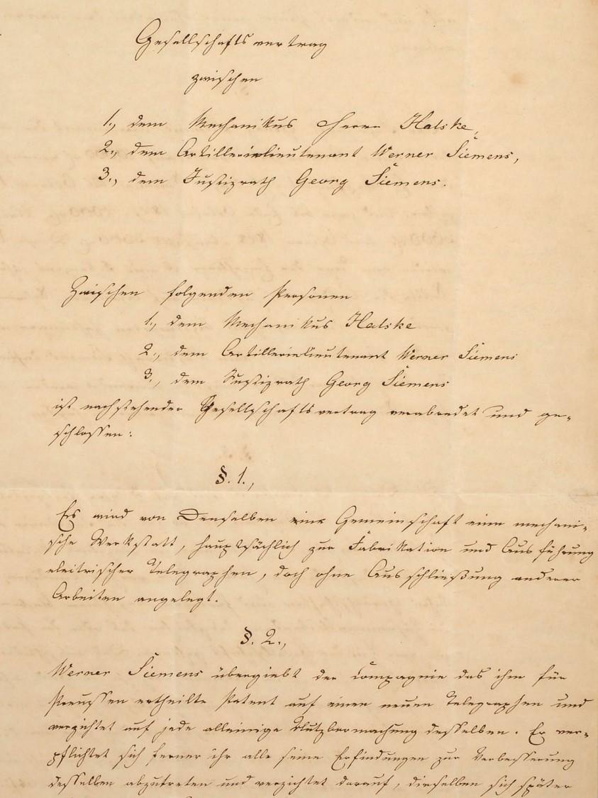 Gesellschaftsvertrag, 1847