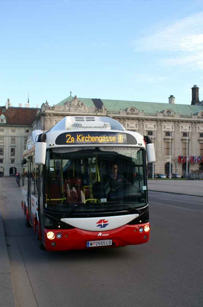 The first series-produced, fully electric bus is now in service in Vienna