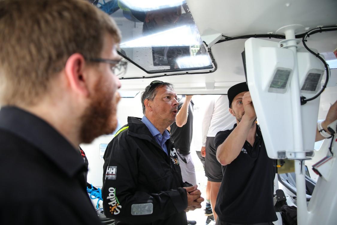 Navigation trimaran Sodebo Ultim 3 avec des étudiants de l'UTC