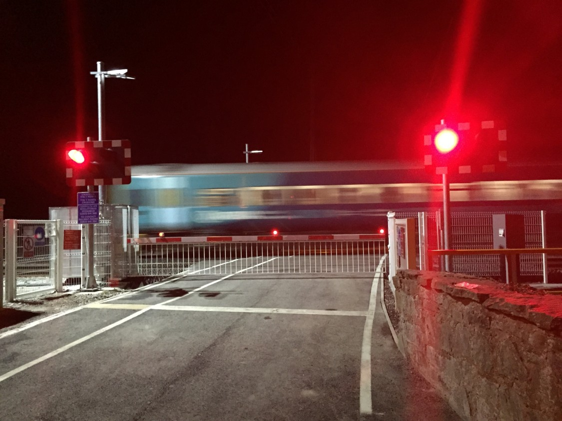 Level Crossing at night