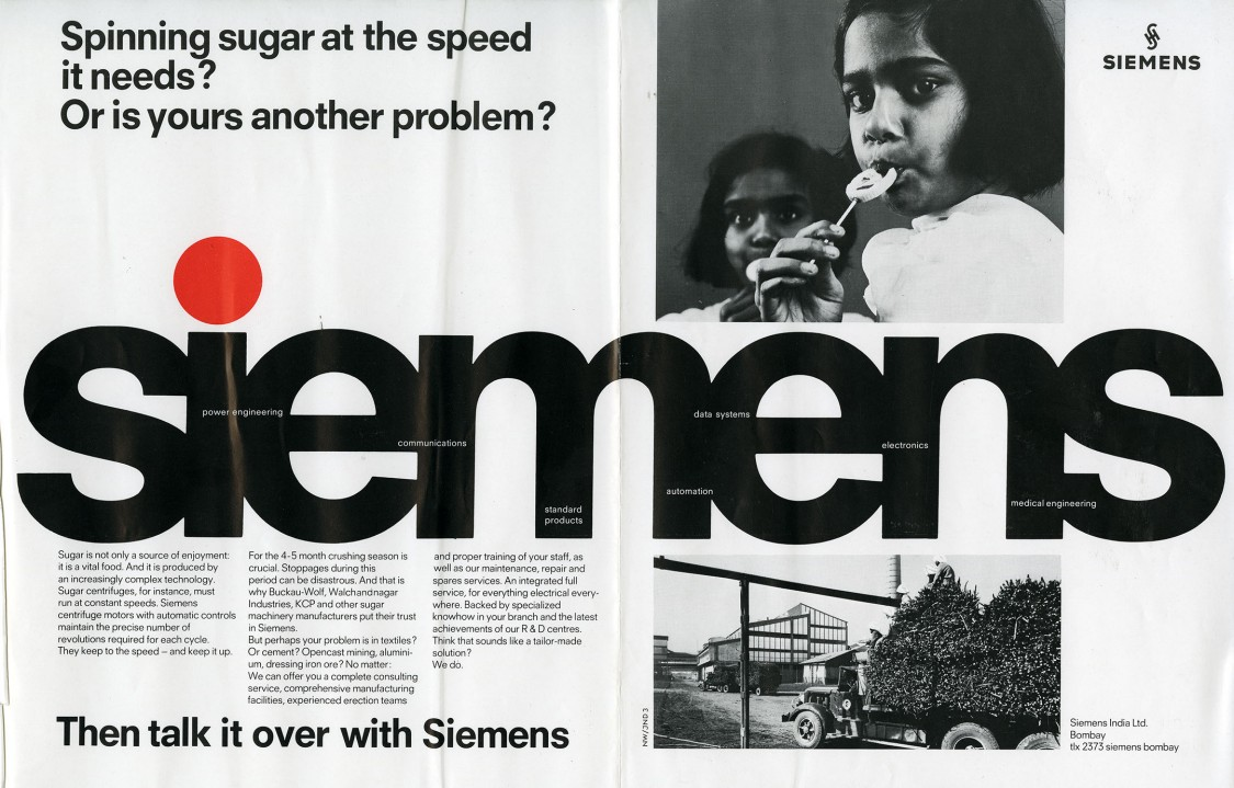 """The """"Then talk it over with Siemens"""" image campaign, 1970"""