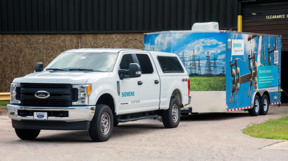 Siemens medium-voltage power distribution products and solutions trailers